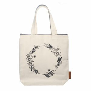 flower wreath hunter and the fox tote