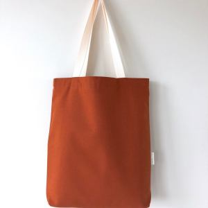 Burnt orange duck cotton tote bag hunter and the fox australia