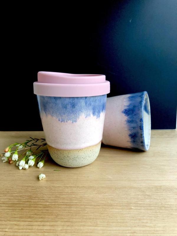 Handmade ceramic Dusk keep cup hunter and the fox australia