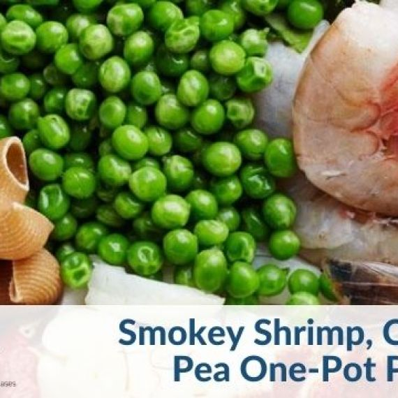 Shrimp and pea one pot pasta