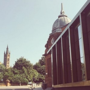 Kelvin Hall looking to Glasgow University