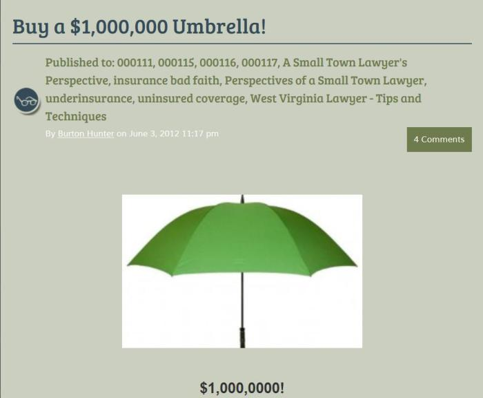 3.MillionDollarUmbrella