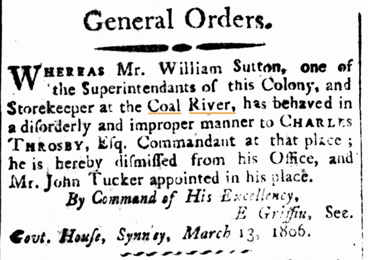 General Orders. (1807, March 22). The Sydney Gazette and New South Wales Advertiser (NSW : 1803 - 1842), p. 1.