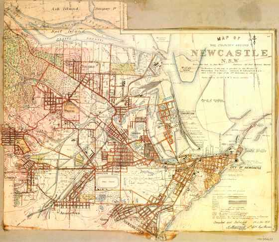 Map of the Country Around Newcastle N.S.W. 1910 (UoNCC)