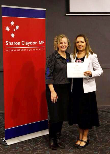 Federal Member for Newcastle Sharon Claydon MP with Dr Ann Hardy