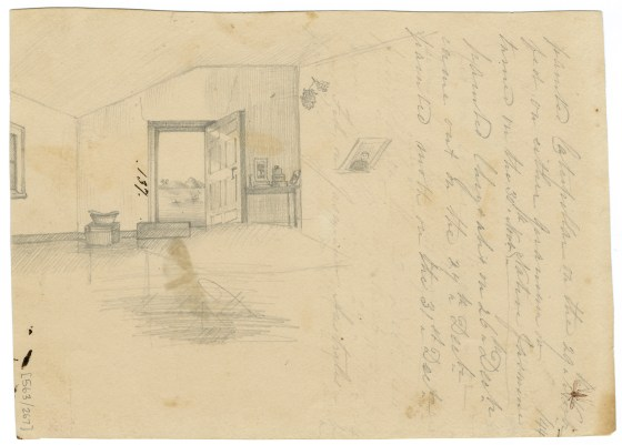 Interior of the Scott's Home, circa 1840s. (Courtesy of The Australian Museum)