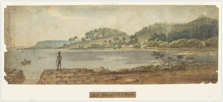 8. 'Port Stevens, New South Wales' by Augustus Earle 1825-1828 (Courtesy of State Library of NSW)