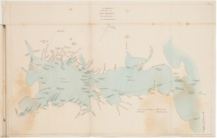 Sketch of Port Stephens, New South Wales (1826) by Henry Thomas Ebsworth (Cortesy of the State Library of NSW)