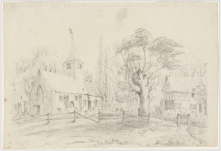 21a. Church in which Capt. Francis Harding was married to Miss Dallas by E. King. (Courtesy of State Library of NSW)