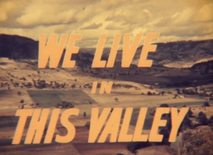 We Live In This Valley (1962) Title Graphic