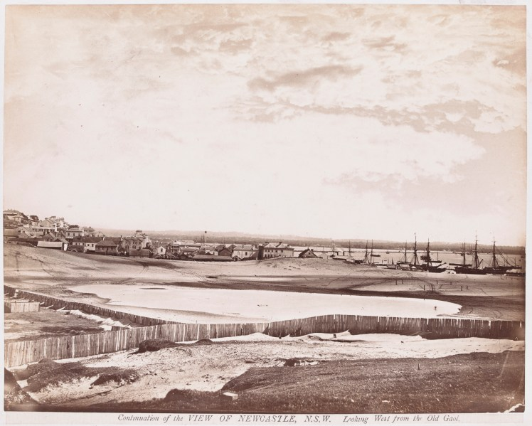 Continuation of View of Newcastle Looking West from the Old Gaol (H141653 - Courtesy of the State Library of Victoria)