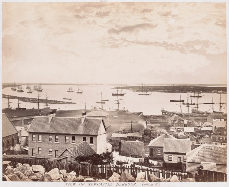View of Newcastle Harbor Looking North (H141651a-Courtesy of the State Library of Victoria)