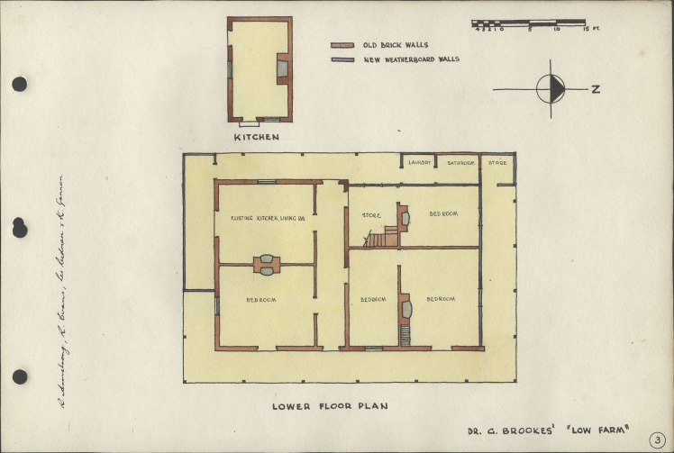 "Floor Plans to Dr G. Brookes' ""Low Farm"""