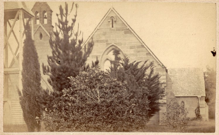 Unidentified Newcastle Church, circa 22 October - 1 December 1870. Photo Credit: Photographed by Beaufoy Merlin (No. 59245) Digitised by Anne Glennie from the Glennie Family Albums)