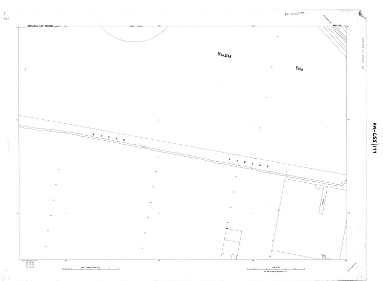 Water Board Plan (177) circa 1897 showing extent of drain along Young Street Waratah