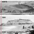 Fort Scratchley 1820s compared with 1885