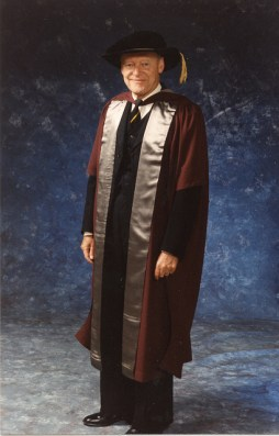 Godfrey in Academic Attire