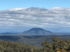 Mount Yengo, as it appeared on 4 August 2017 from the Finchley Lookout