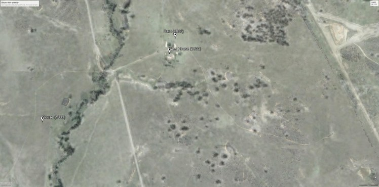 1958 aerial photo overlay