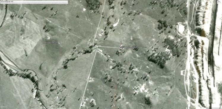 Aerial photo 1974 (MUSWELLBROOK-06-1974-R003M-2242-41)- evidence earlier house