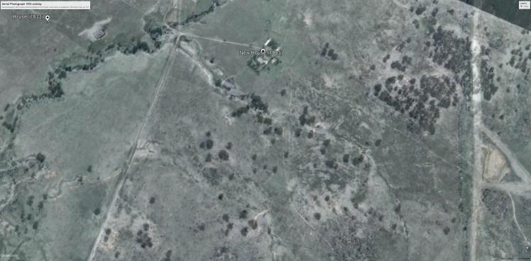 Aerial photo 1974 overlay (run C5)