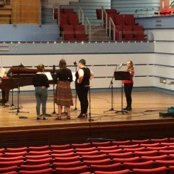 Musicians in rehearsal for the Victoria Theatre 3D Reconstruction Project