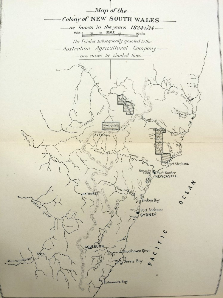 Map of Newcaslte & Port Stephens area. nd