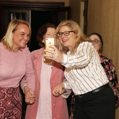 A selfie moment with Lord Mayor, Vera and Rosmarie Milsom at Awards ceremony for Vera at City Hall with Lord Mayor Nuatali Nelmes. Picture by Peter Lorimer.