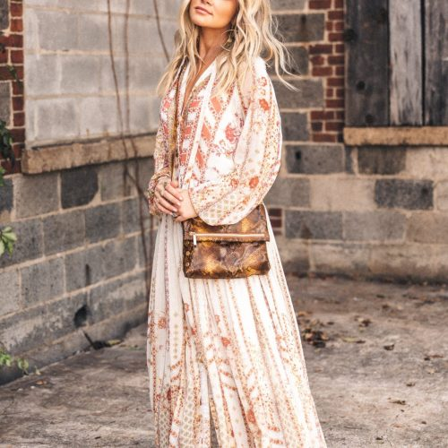 FALL MAXI DRESS + MIXED PRINTS