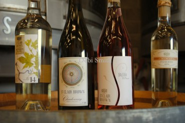 Some of the St. Clair Brown wines.