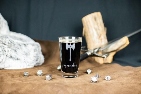 Barbarian Pint Glass