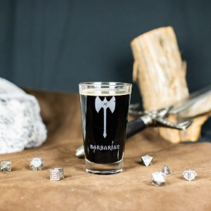 Barbarian Pint Glass