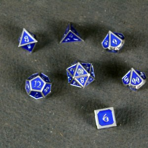 Blue Enamel Metal Avalon Dice