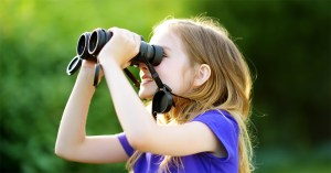 HuntersWoodsPH | Lifelong love of learning | Girl with binoculars