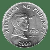 Philippine money 1 peso coin