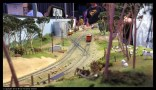 Looking down the layout - loved the trackwork and yard design