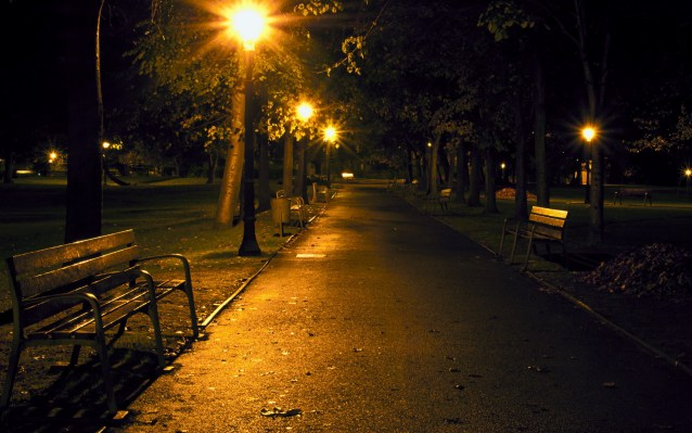 night-park-street-lamp-bench-walkway