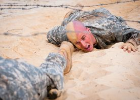 A U.S. Soldier roughing it out in a sandpit! [http://www.defense.gov/Media/Photo-Gallery?igphoto=2001253076]