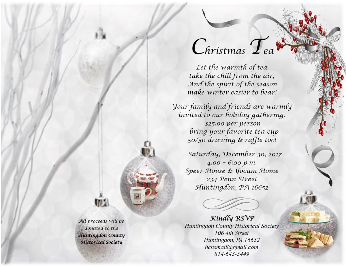 A Christmas Tea: 234 Penn Street – Huntingdon County Historical ...