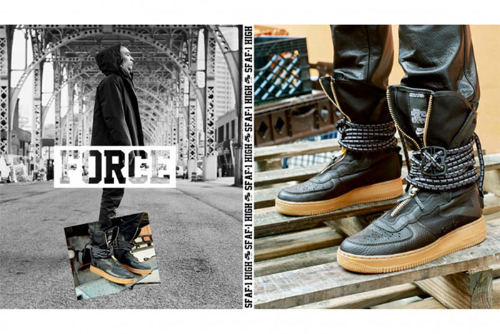 Nike Special Force Air Force 1 Hi Boot Black Gum