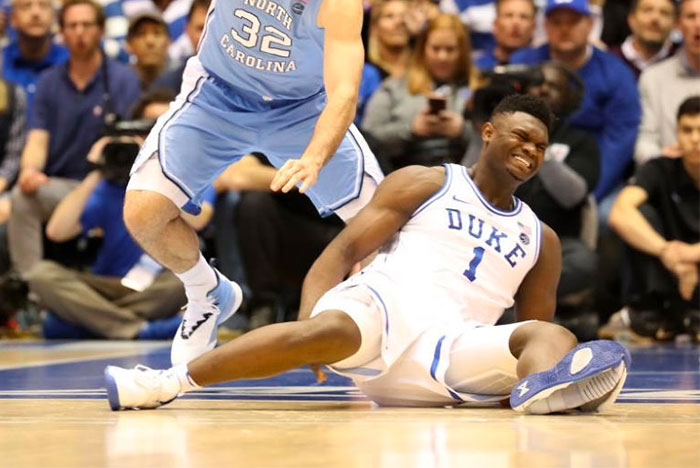 Zion Williamson Blows Out His Nikes On Court, Injures Knee in the Process