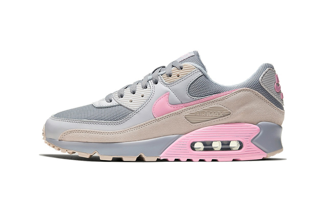 """Nike Air Max 90 Gets Subtle """"Vast Grey/Pink"""" Makeover"""