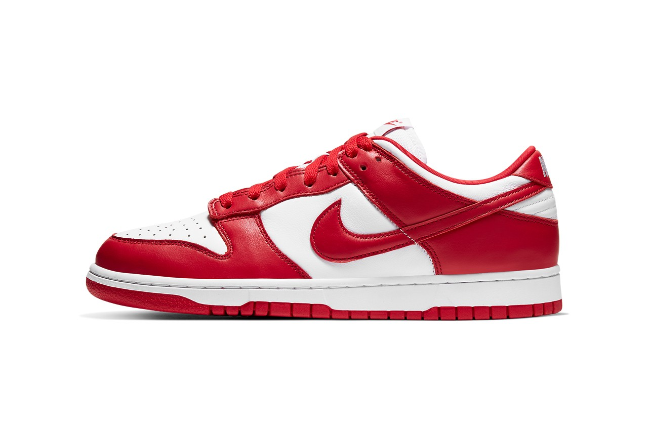 "A Detailed Look at Nike's Dunk Low ""University Red"""