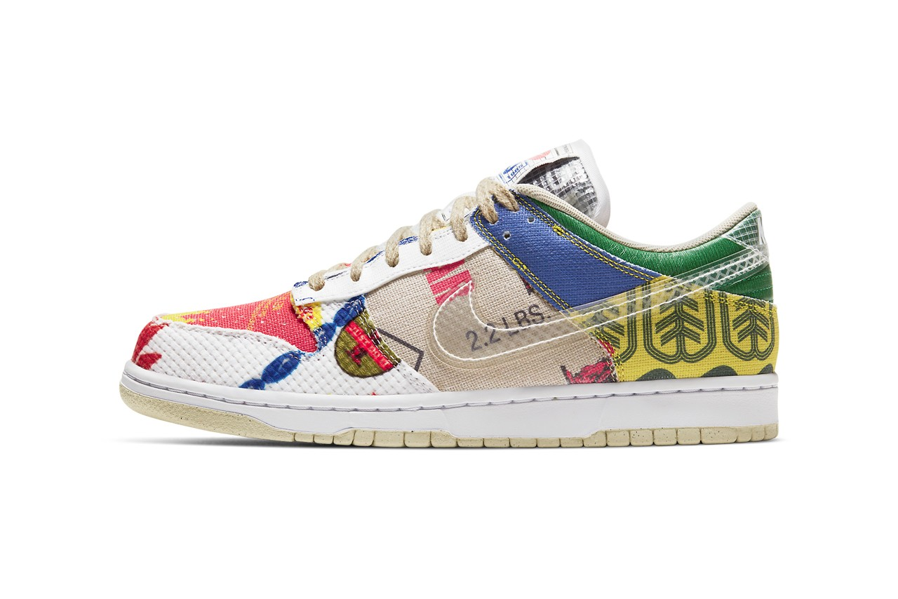 """Nike Celebrates Upcycling With the Dunk Low """"City Market"""""""