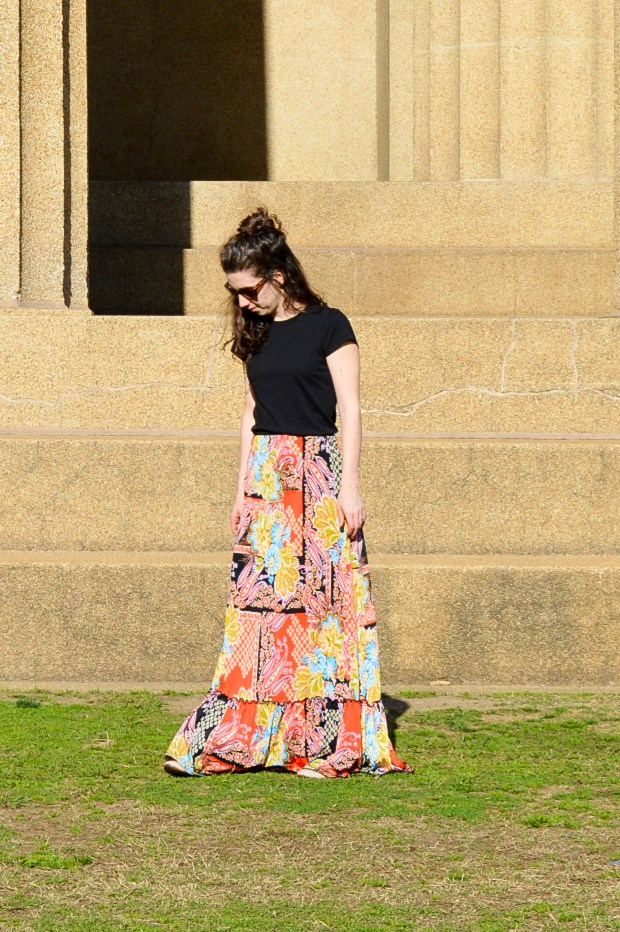 The dress that became a maxi skirt