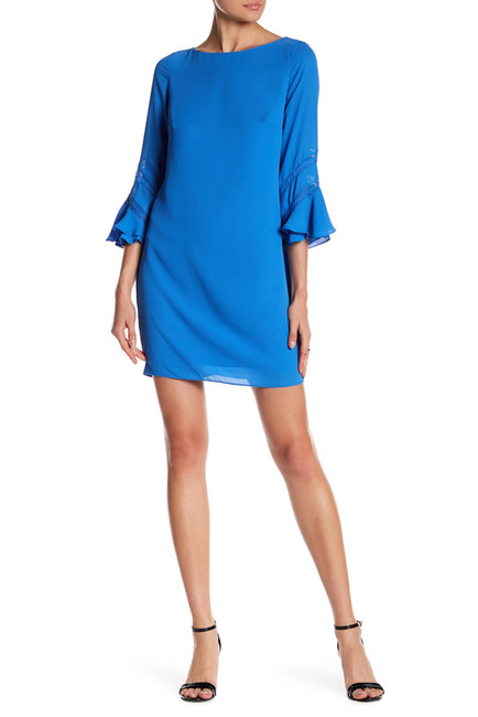 Easter Dress Ideas   Blue with Bell Sleeves