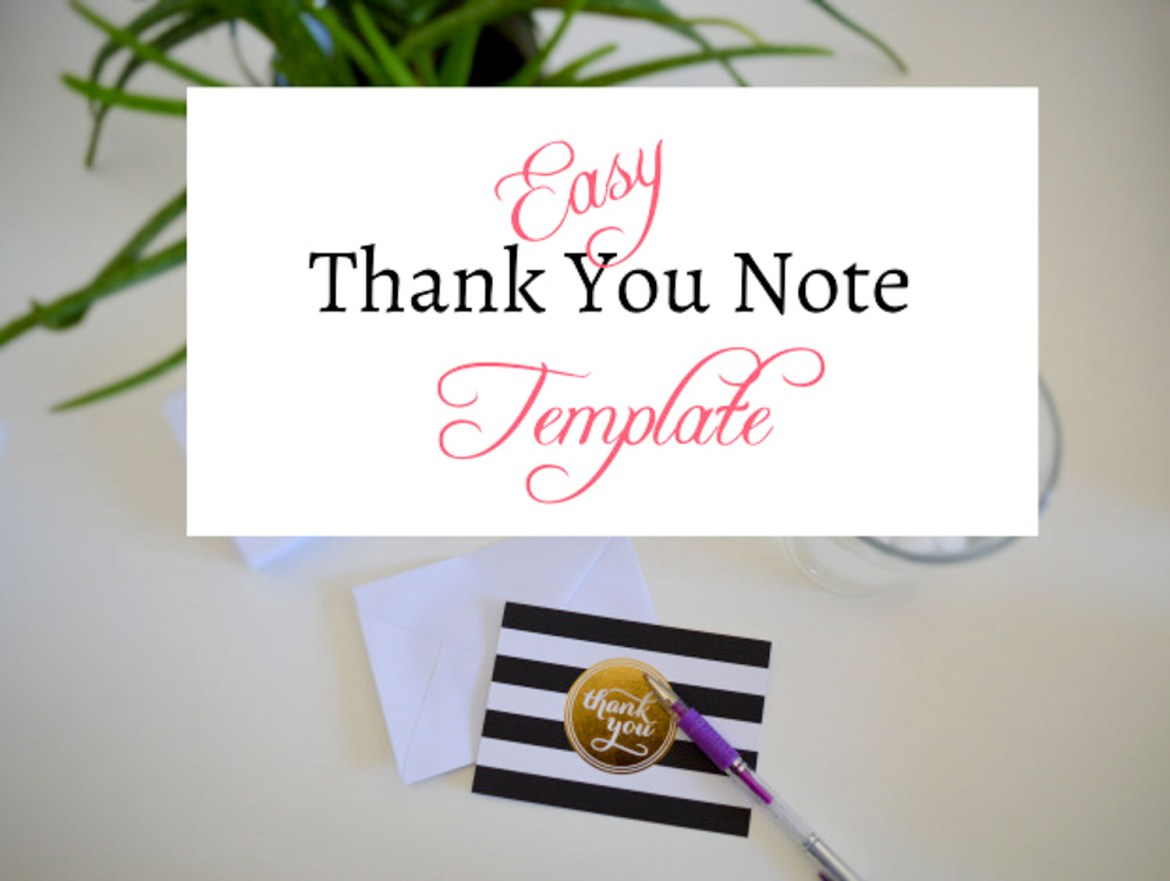 Easy Thank You Note Template