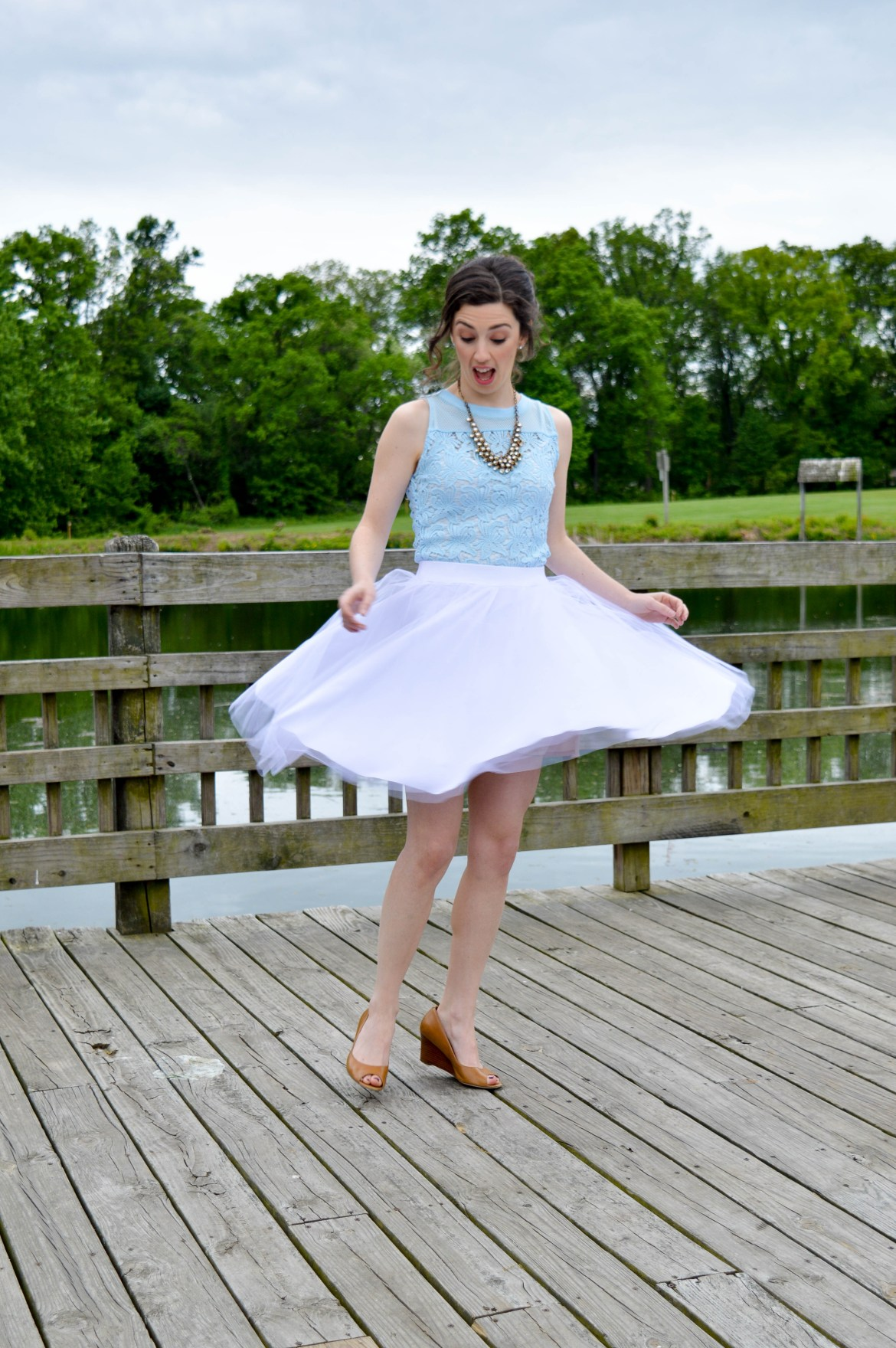 Tulle skirt outtake | Hunting for Pink Flamingos