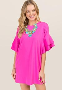 Ruffle sleeve dress from Francesca's