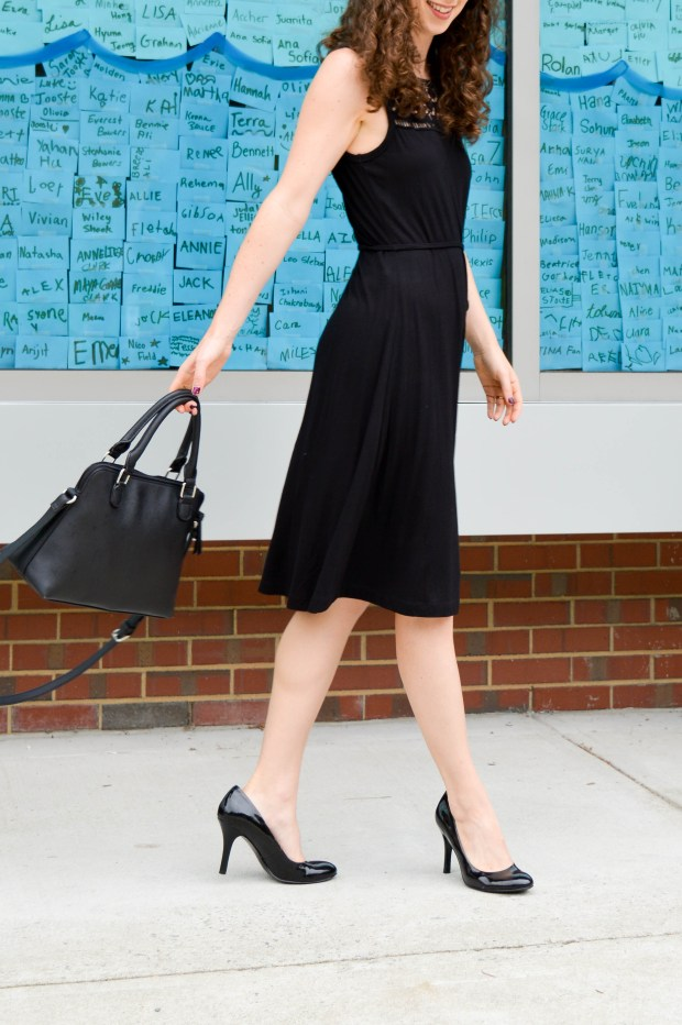 Classic Black Dress with a Twist